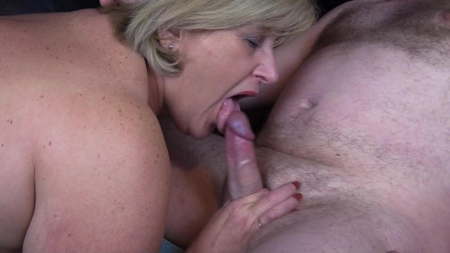 Mature women blow job British mature sloppy blow job and a mouthful of hot cum