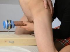 Fuck New Fleshlight, Girl guides him - Cumshots with Prostate Massage