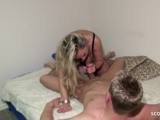 German MILF Fuck the Young Tenant in the Guest Room
