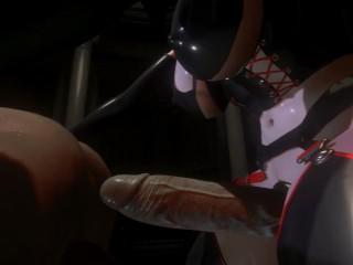 Citor3 SFM VR Porn Games Latex Futa Mistress Fucks Male Anal