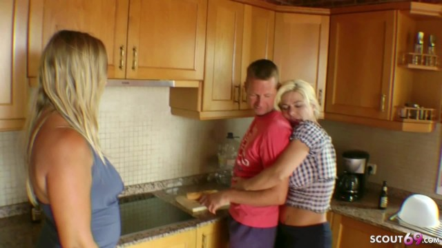 Grman mature - Amateur gangbang from 3 german mature with stranger at holiday