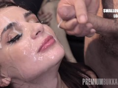 Bukkake - Kate Rich swallows 141 huge...