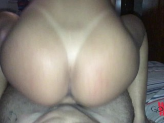 Hot step sister! She made me cum 2 times in a minute fucking her ass