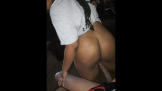 ALMOST CAUGHT BY PARENTS DURING COVID-19 QUARANTINE GAG AND REVERSE COWGIRL