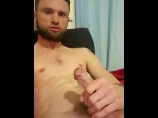 Morning stroke and cum session are...