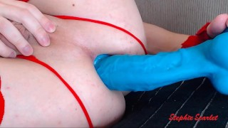Extreme Close Up Ass Stuffing - Trailer - huge dildo anal