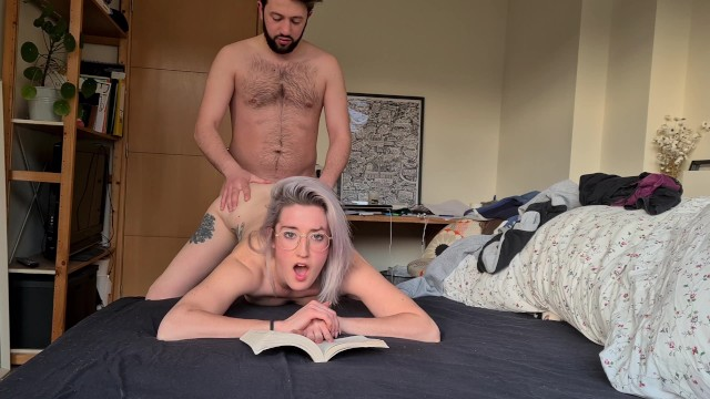 The big penis book cover - She reads a book during quarantine and i fuck her in doggystyle