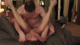 Cuck fucks slutwife, she admits she needs more cock to fill her up