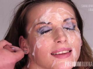 Premium Bukkake Victoria Daniels Swallows 55 Huge Mouthful Cum Loads