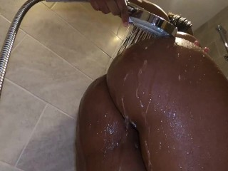 Explore my new tits in the shower