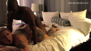 Short Haired Bbw MILF Gets Fucked By Bbc Stud In Hotel Room