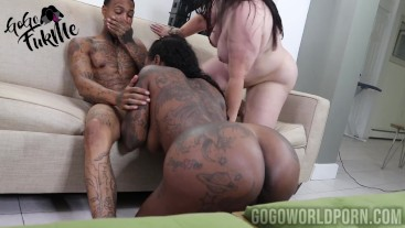 GoGo FukMe Interracial 3some with Marcy Diamond