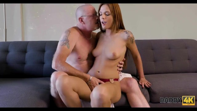 DADDY4K. Beautiful redhead has sex with boyfriends dad for money 6