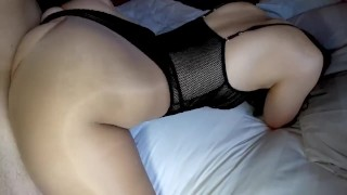 Young slut get fuck from behind in sexy pantyhose bodysuit