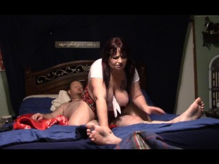Chasity Fire Goes Bare Back Riding in Reverse