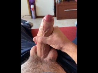 POV Big Balls Dumping White Thick Cum