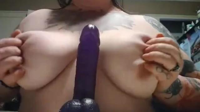 Tattoo tit and dildo play 34