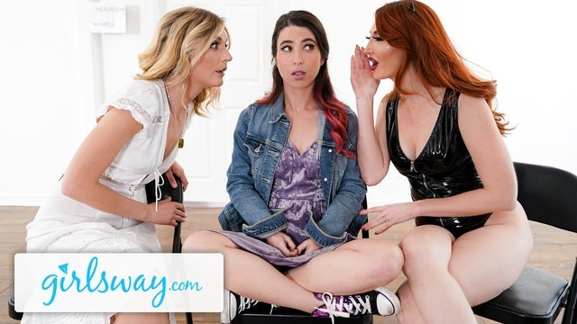 Heaven or hell wi escort passwords Girlsway fight turns into amazing threesome in purgatory. hell or heaven