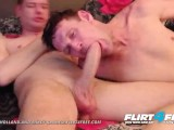 Maikel and Mikey on Flirt4Free - Older Twink Gets His Monster Cock Sucked