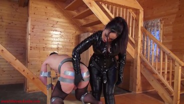 Wide open for My cock: Mistress Ezada sodomizing Her slave