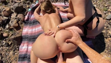 Wild Amateur Threesome Adventure - Horny Hiking - Molly Pills & Anna Bailey