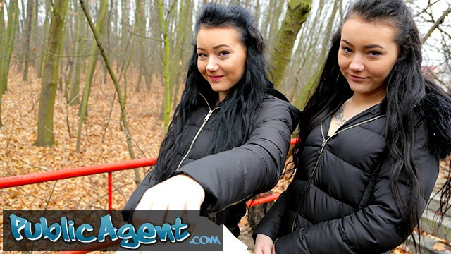 Twins share dildo - Public agent real twins stopped on the street for indecent proposals