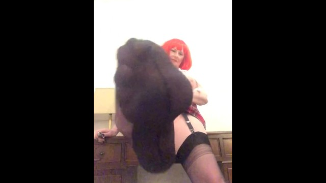 Annabels red hair pussy and ass play 3