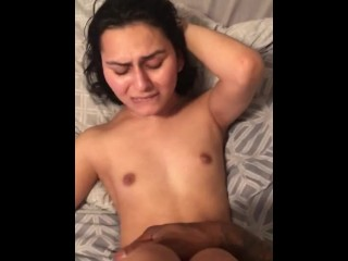 Lil bitch could barely take the dick ( bbc and Latina ladyboy)