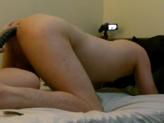 Slave gets end dildo pegging prostate thrusting and...