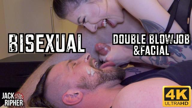 Cumbath facial movie Bisexual double blowjob facial