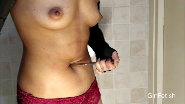 Fist stick knife gun charecters - Belly stab, belly knife play short version