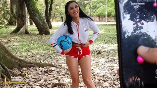 Soccer practice on open field + lush control my pussy... see what happens