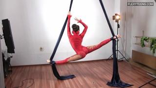 Flexible nude babe Agnes Feher