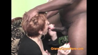 Granny Shows How a Blowbang is Done