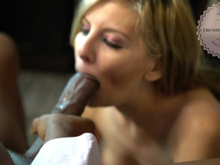 Freshman League S1E5- Alessandra Noir Suck Cum Out of BBC