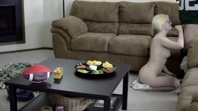 Neighbors Hot Daughter Comes Over to Watch Football and Sucks My Cock 15