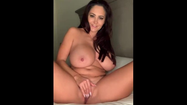 Mature bed Masturbating for you in my bed -cum with me