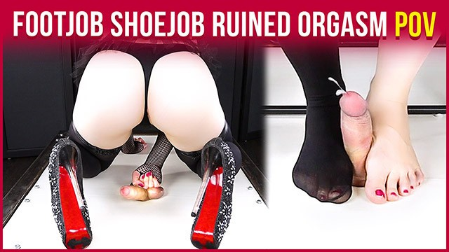 Busty 50s era vixens - Cockbox handjob torture high heels footjob with ruined orgasm era
