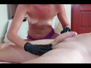 Topless Black Gloves Handjob (PREVIEW)