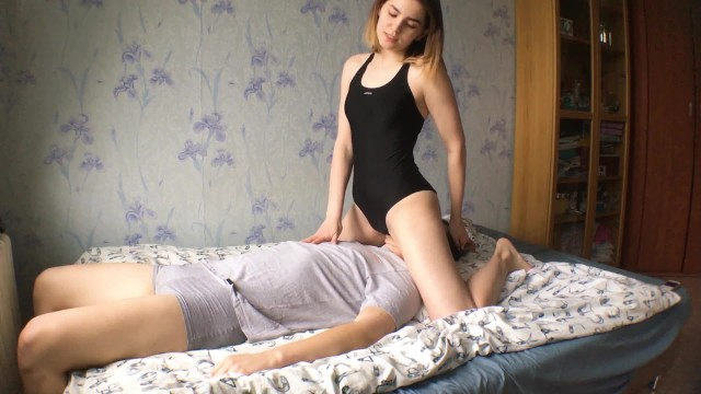 Teen punished - The bad boy was punished - i fucked his face with my pussy