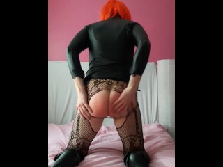 Spanking cum mouth swallow...