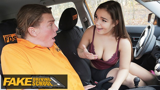 Adult themed coffee stand - Fake driving school curvy brunette sofia lee sucks coffee flavoured cock