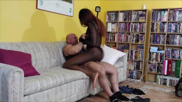 Paris Love gives lap dance and gets creampie