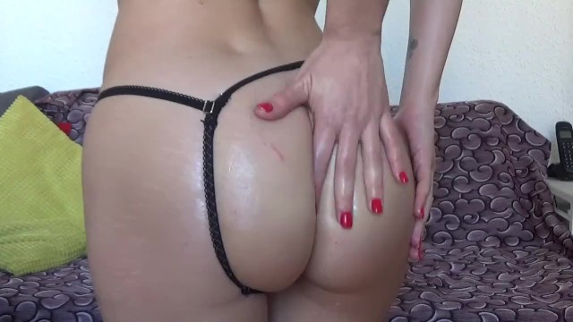 Ass playing and stretching with oil 10