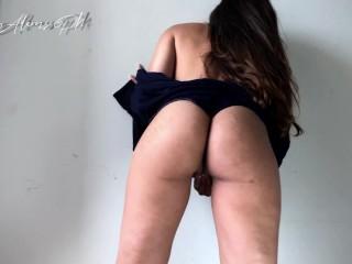 Hot slut cums from edging clit rubbing after home work – Katie Adams-