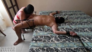 Intense cum and post orgasm torture after mistress edges cock a long time