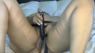 Sexy mature woman stroking touching my dark hairy pussy intense orgasm