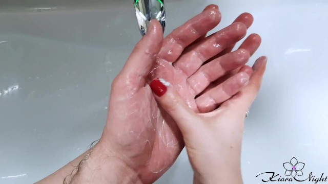 Kiara hunter nude Diligently washing husbands hands and he washes my hands scrubhub