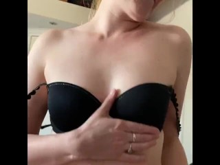 She's riding my cock and showing her tits