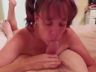Girl With Pigtails Pov Blowjob And Swallow For Daddy